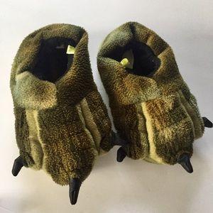 Dinosaur Feet Slippers Kids Small 7/8